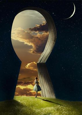 girl-in-key-hole-sunset-the-muses-inspire-the-spells-imbue-the-bones-of-story-evolve